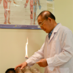 practitioner treating patient